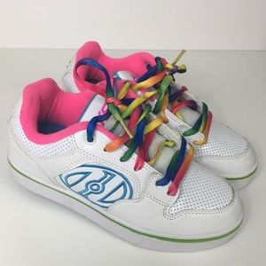New HEELY'S Pink Rainbow Sneakers 3 Youth Kids
